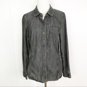 BODEN Chambray Button Up Shirt Long Sleeves 12